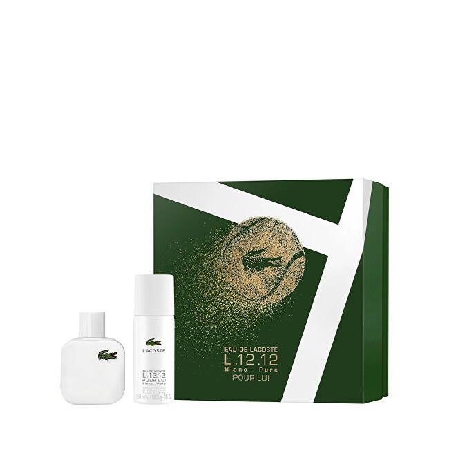 Lacoste Eau De Lacoste L.12.12 Blanc - EDT 50 ml + deodorant ve spreji 150 ml