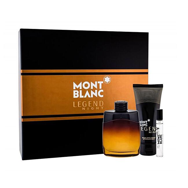 Montblanc Legend Night - EDP 100 ml + EDP 7,5 ml + balzám po holení 100 ml