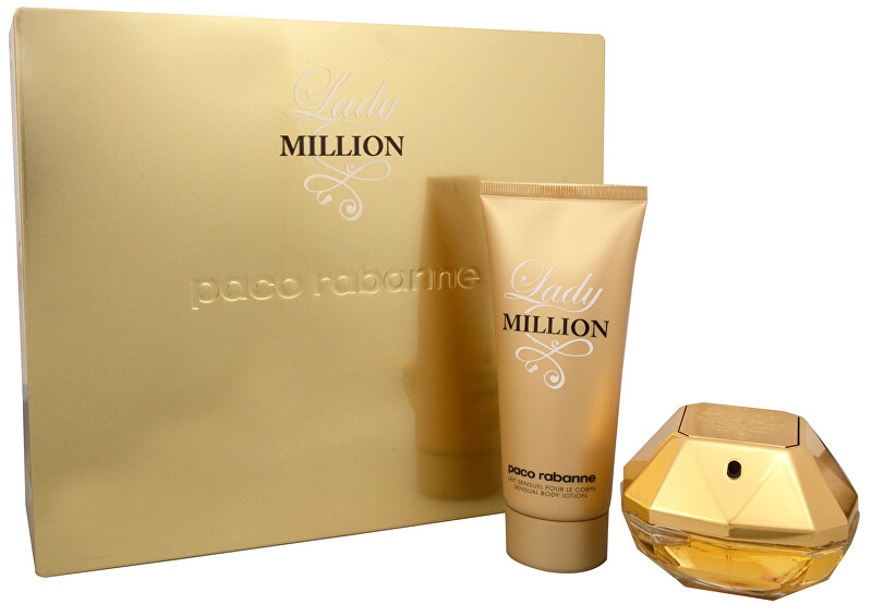 Paco Rabanne Lady Million - EDP 50 ml + tělové mléko 100 ml