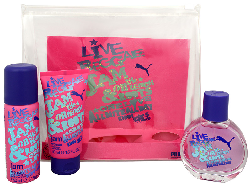 Puma Jam Woman - EDT 40 ml + deodorant ve spreji 50 ml + sprchový gel 50 ml