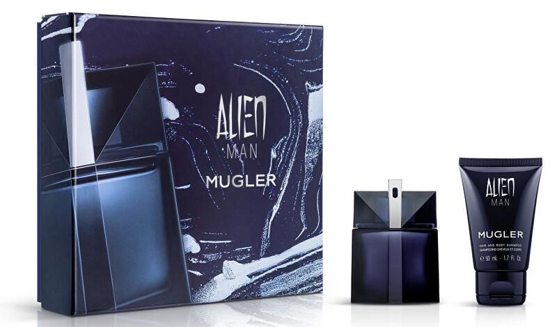 Thierry Mugler Alien Man - EDT 50 ml + telový a vlasový šampon 50 ml
