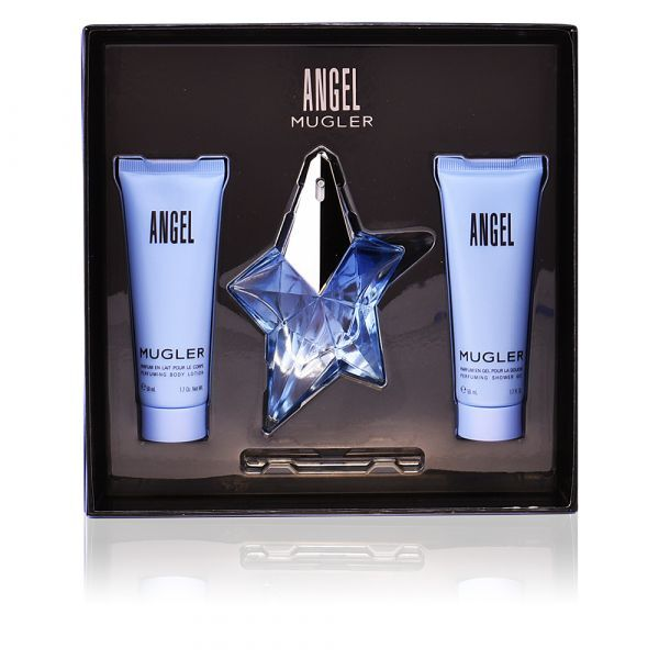 Thierry Mugler Angel - EDP 25 ml + sprchový gel 50 ml + tělové mléko 50 ml - SLEVA - bez informační etikety