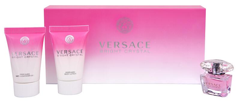 Versace Bright Crystal - miniatura EDT 5 ml + telové mlieko 25 ml + sprchový gél 25 ml