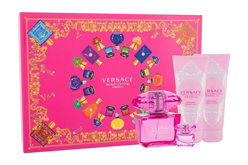 Versace Bright Crystal Absolu - EDP 90 ml + tělové mléko 100 ml + sprchový gel 100 ml + EDP 5 ml