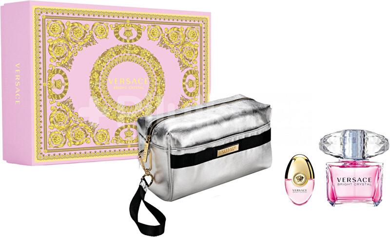 Versace Bright Crystal - EDT 90 ml + EDT 10 ml + kozmetická taštička