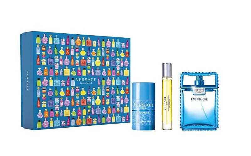 Versace Eau Fraiche Man - EDT 100 ml + tuhý deodorant 75 ml + EDT 10 ml