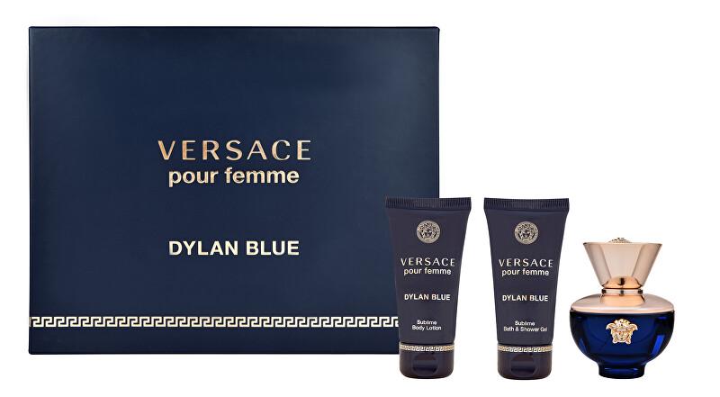 Versace Pour Femme Dylan Blue - EDP 50 ml + sprchový gél 50 ml + telové mlieko 50 ml