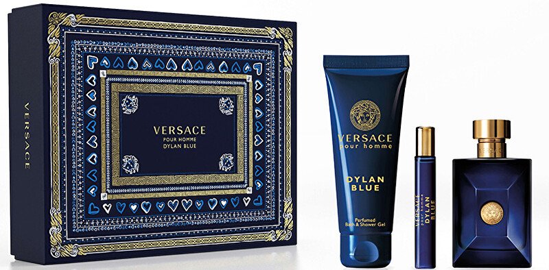 Versace Versace Pour Homme Dylan Blue - EDT 100 ml + sprchový gel 150 ml + EDT 10 ml