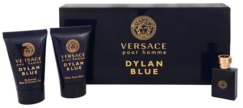 Versace Versace Pour Homme Dylan Blue - EDT 5 ml + sprchový gel 25 ml + balzám po holení 25 ml