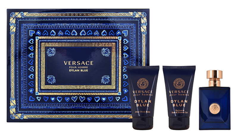 Versace Versace Pour Homme Dylan Blue - EDT 50 ml + balzám po holení 50 ml + sprchový gel 50 ml
