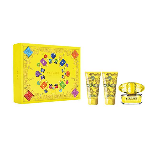 Versace Yellow Diamond - EDT 90 ml + tělové mléko 100 ml + sprchový gel 100 ml + EDT 5 ml