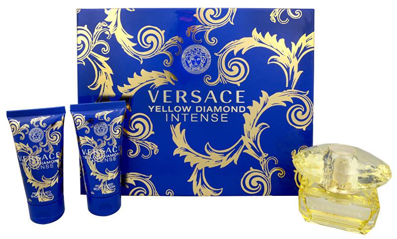 Versace Yellow Diamond Intense pre ženy EDP 50 ml + sprchový gél 50 ml + telové mlieko 50 ml darčeková sada