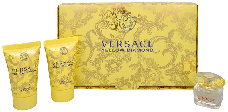 Versace Yellow Diamond - EDT 5 ml + sprchový gel 25 ml + telové mlieko 25 ml
