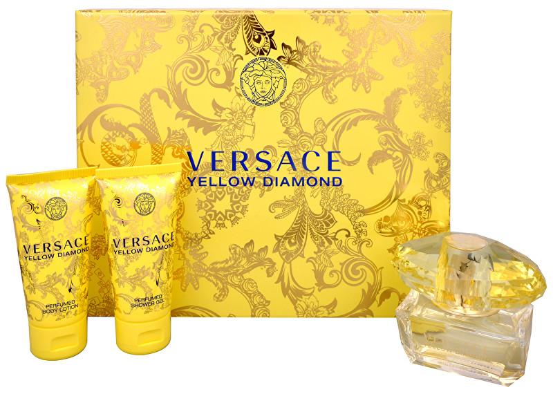 Versace Yellow Diamond EDT 50 ml + telové mlieko 50 ml + sprchový gél 50 ml darčeková sada