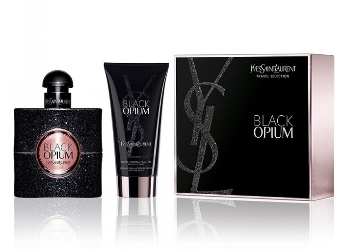 Yves Saint Laurent Black Opium - EDP 50 ml + telová emulzia s trblietkami 50 ml