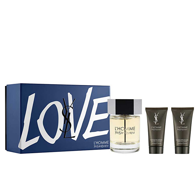 Yves Saint Laurent L` Homme - EDT 100 ml + balzam po holení 50 ml + sprchový gél 50 ml