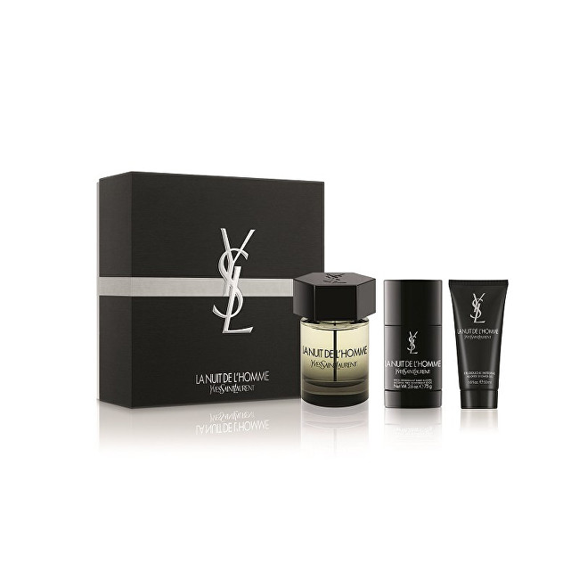 Yves Saint Laurent La Nuit De L` Homme - EDT 100 ml + tuhý deodorant 75 ml + sprchový gel 50 ml