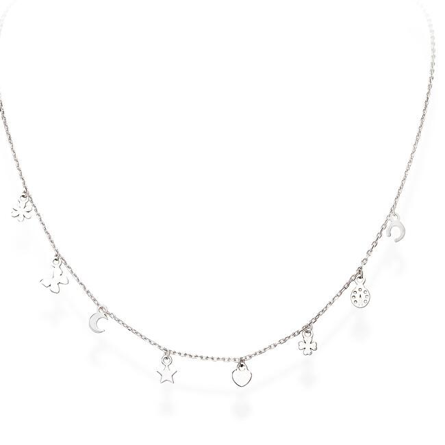 Amen Strieborný náhrdelník s príveskami Romance CLLAFOB