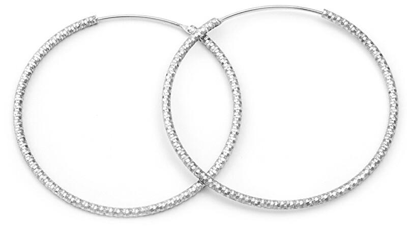 Beneto Luxusné kruhové strieborné náušnice AGUC787 / N 2,5 cm