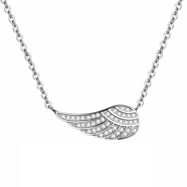 Beneto Strieborný náhrdelník s krídlom AGS298 / 47