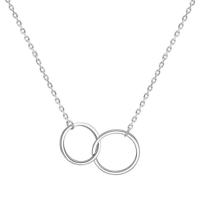 Beneto Strieborný náhrdelník s kruhmi AGS1132 / 47