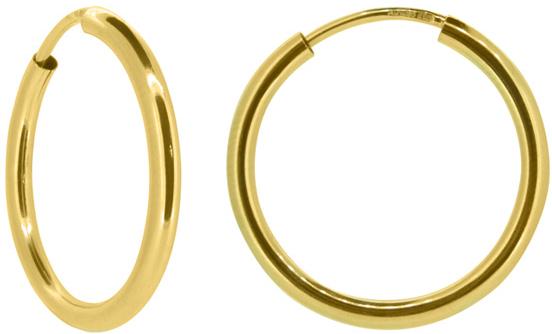Brilio Dámske náušnice kruhy zo žltého zlata P005.750112005.75 4 cm