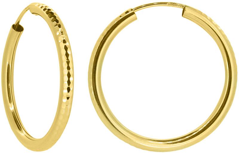 Brilio Dámske náušnice kruhy zo žltého zlata P005.750132515.75 3 cm