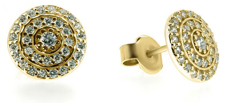 Brilio Elegantní náušnice ze žlutého zlata SILVER010_AU_Y