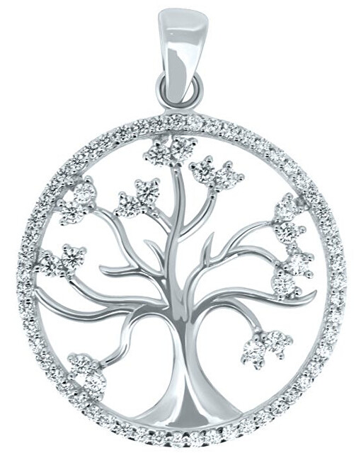 Brilio Krásný přívěsek z bílého zlata Strom života PENT014_AU_W