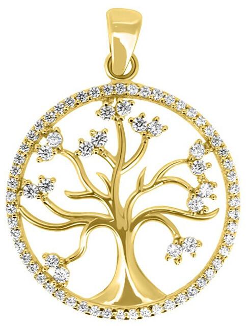 Brilio Krásný přívěsek ze žlutého zlata Strom života PENT014_AU_Y