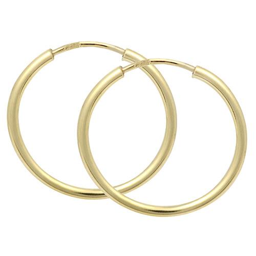 Brilio Náušnice zlaté kruhy 231 001 00278 1,3 cm