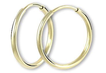 Brilio Náušnice zlaté kruhy 231 001 00486