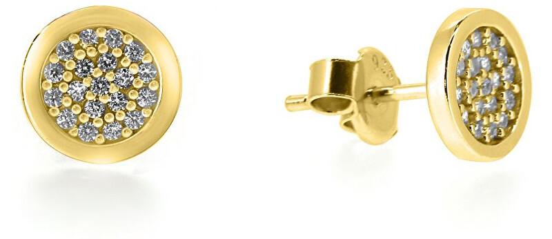 Brilio Oslnivé náušnice ze žlutého zlata SILVER009_AU_Y