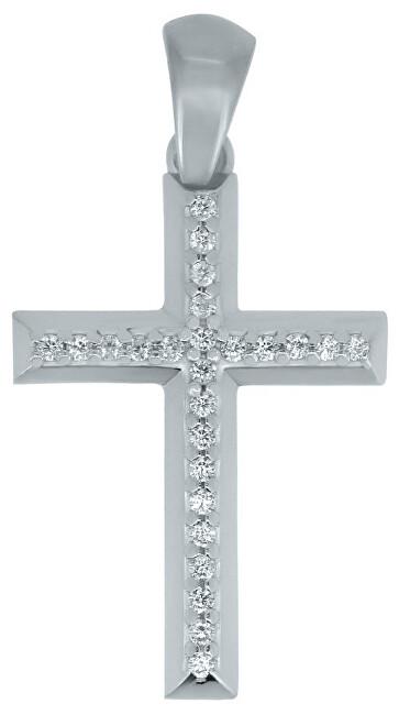 Brilio Přívěsek křížek z bílého zlata CRS177_AU_W