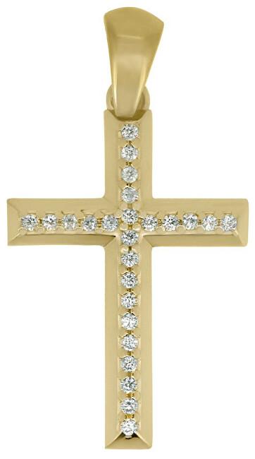 Brilio Přívěsek křížek ze žlutého zlata CRS177_AU_Y