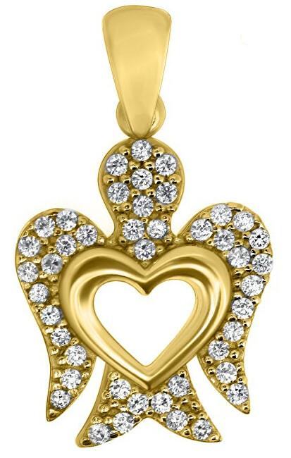 Brilio Přívěsek ze žlutého zlata Andělíček PENT062_AU_Y
