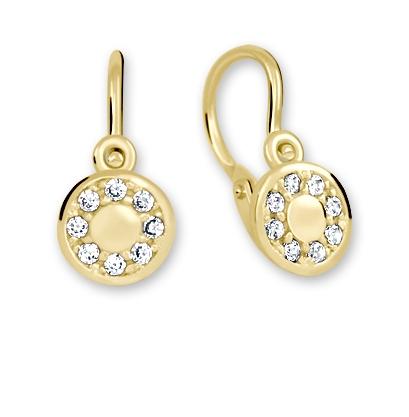 Brilio Pôvabné zlaté náušnice s čírymi kryštálmi 239 001 00729