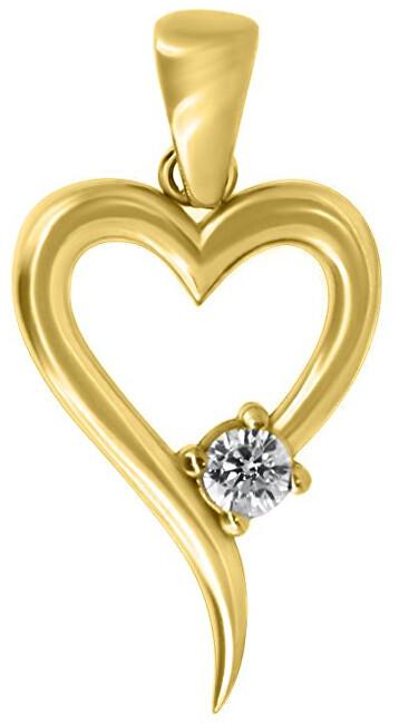 Brilio Romantický přívěsek ze žlutého zlata PENT024_AU_Y