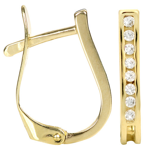 Brilio Zlaté náušnice s kryštálmi 239 001 00559