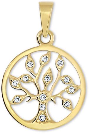 Brilio Zlatý přívěsek Strom života s krystaly 249 001 00442