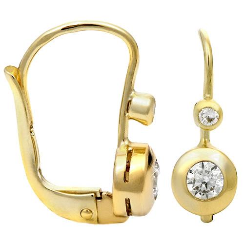Brilio Zlaté náušnice s kryštálmi 239 001 00060