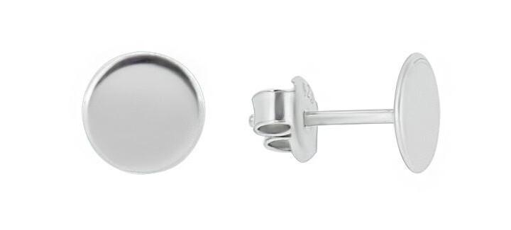 Brilio Silver Minimalistické strieborné náušnice GOLD012
