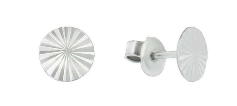 Brilio Silver Minimalistické strieborné náušnice GOLD017