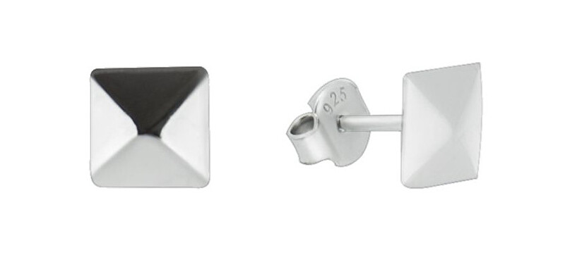 Brilio Silver Minimalistické strieborné náušnice GOLD018