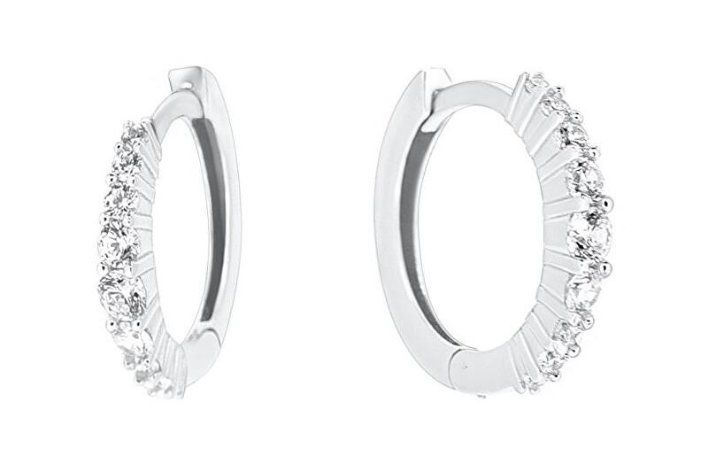 Brilio Silver Očarujúce strieborné kruhové náušnice PE077