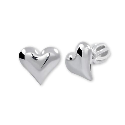 Brilio Silver Strieborné náušnice Srdce 431 001 00440 04