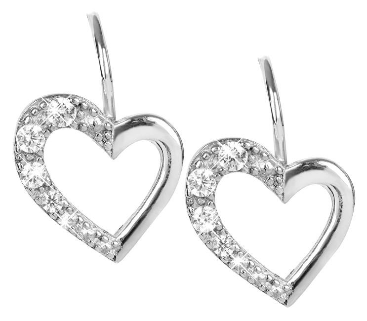 Brilio Silver Strieborné náušnice Srdce 436 001 00405 04