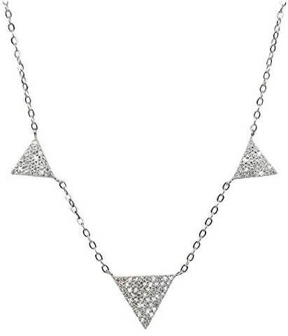 Brilio Silver Strieborný náhrdelník s kryštálmi SNJ10