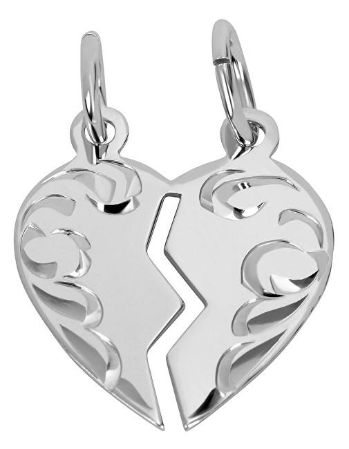 Brilio Silver Partnerský šperk - Stříbrný přívěsek pro páry 441 001 01480 04