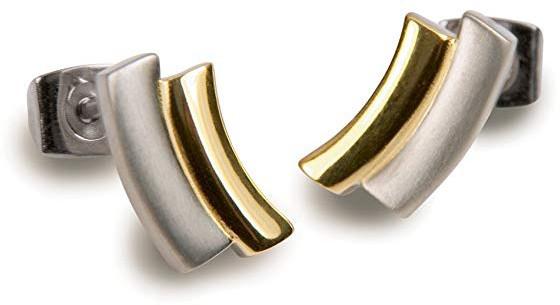 Boccia Titanium Pozlacené titanové náušnice 0561-02
